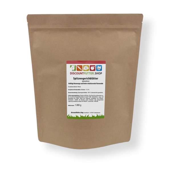 Spitzwegerichblätter (gemahlen) Kräftigt Atemwege und liefert vitalisierende Flavonoide