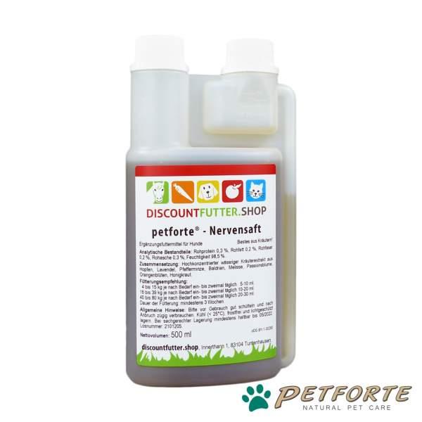 petforte - NERVENSAFT für Hunde (0,5 Liter)
