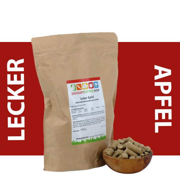 Lecker Apfel - Leckerlie für Pferde - Prämiumartikel