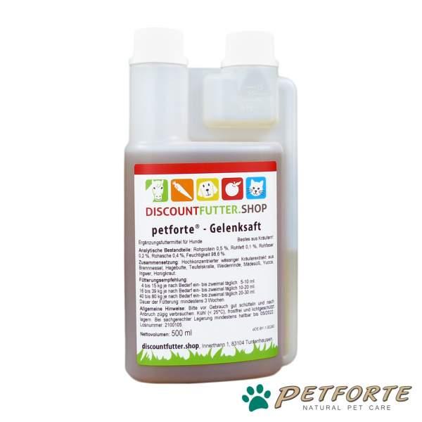 petforte - GELENKSAFT für Hunde (0,5 Liter)