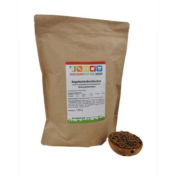 Hagebuttenkernkuchen (Pellets) 1,5 kg - unterstützt Gelenke und Immunsystem