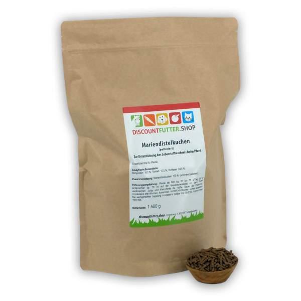 Mariendistelkuchen (pelletiert) für Pferde - Stoffwechsel unterstützen