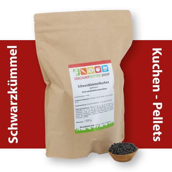 Schwarzkümmelkuchen (pelletiert) Die Bronchialfunktion beim Pferd unterstützen