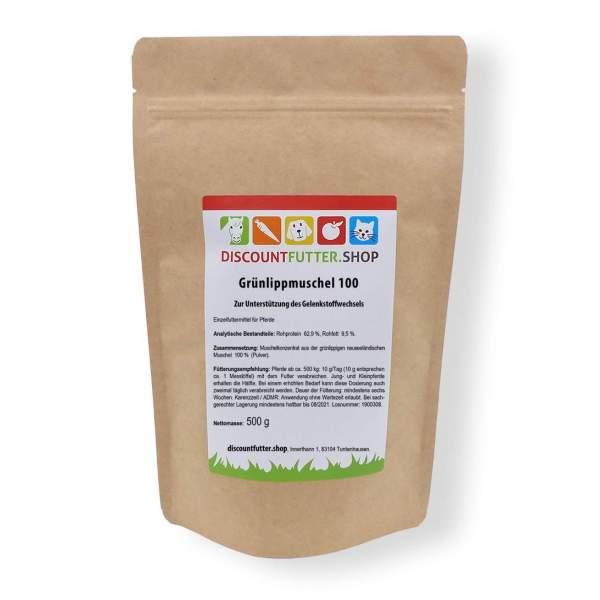 Grünlippmuschel 100 Zur Unterstützung des Gelenkstoffwechsels für Hund und Pferde mit Arthrose