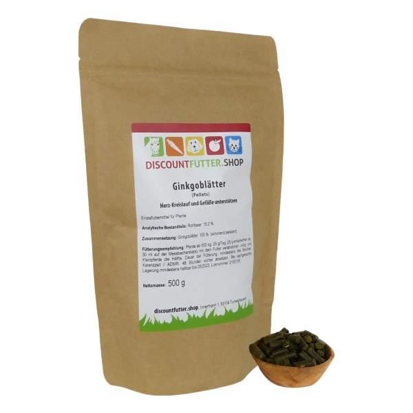 Ginkgoblätter - pelletiert 500 Gramm