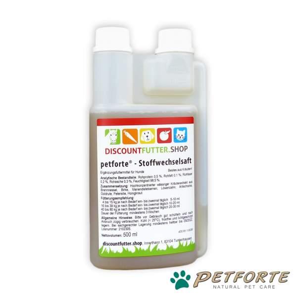 STOFFWECHSELSAFT für Hunde (0,5 Liter)