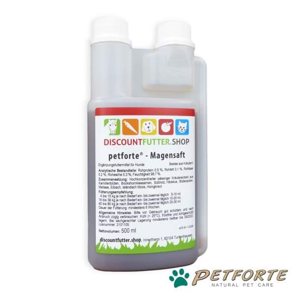 petforte - MAGENSAFT für Hunde 0,5 Liter