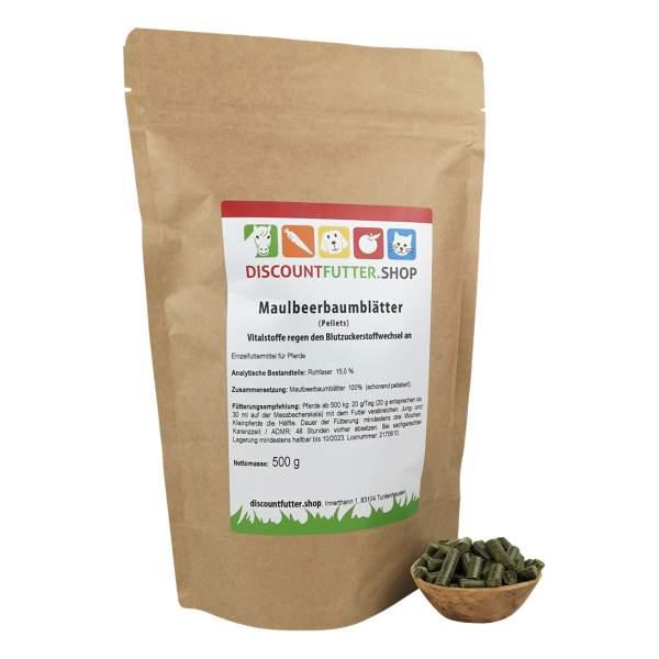 Maulbeerbaumblätter (500 Gramm - Pellet)